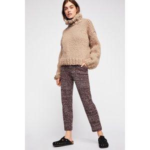 NWOT Free People Cozy Knit Trouser